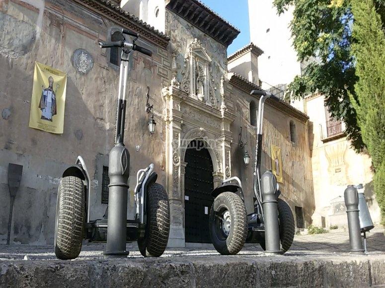 Segways aparcados