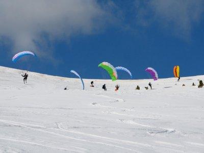 Jornada de speedriding parapente con esquí Cerler