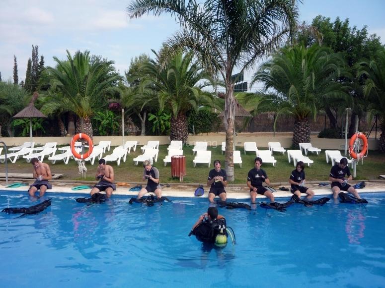 Lecciones en la piscina