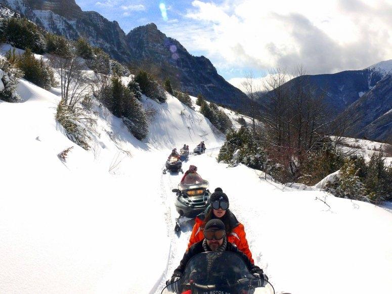 Rutas en moto de nieve