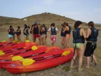 Group next to the canoes