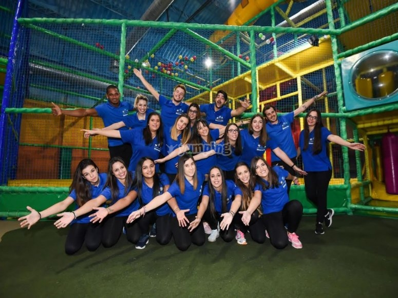 Team of entertainers and instructors