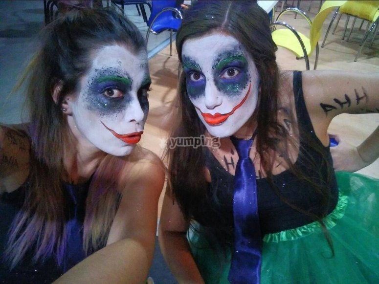 Instructors with make-up