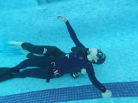 Diving class in confined water