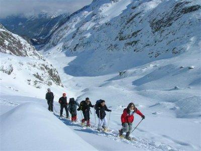 内华达山脉的雪鞋小径3小时
