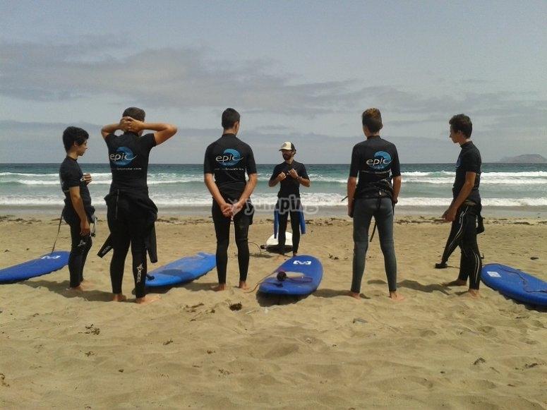 Clases de surf en Lanzarote