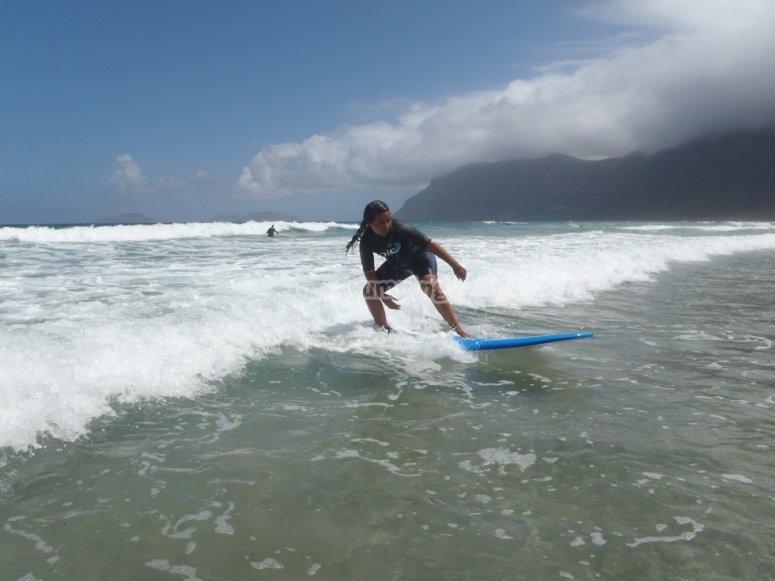 Leccion de surf