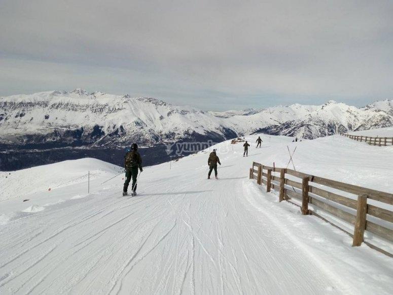 Pista de esquí en Valdesquí