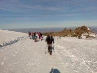 Paseo con raquetas de nieve en Sierra Nevada