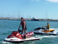 Standing up on the jet ski