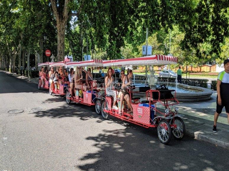 Paseo en bicibirra por Madrid