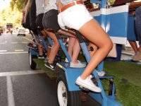 Bicicleta con barra libre de cerveza en Madrid