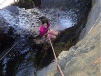 Rappel dalla cascata