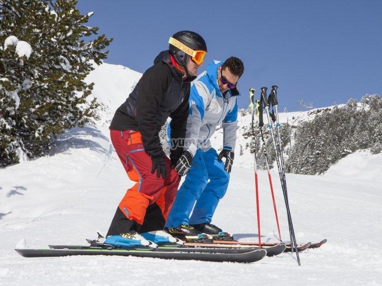 Probando el esqui