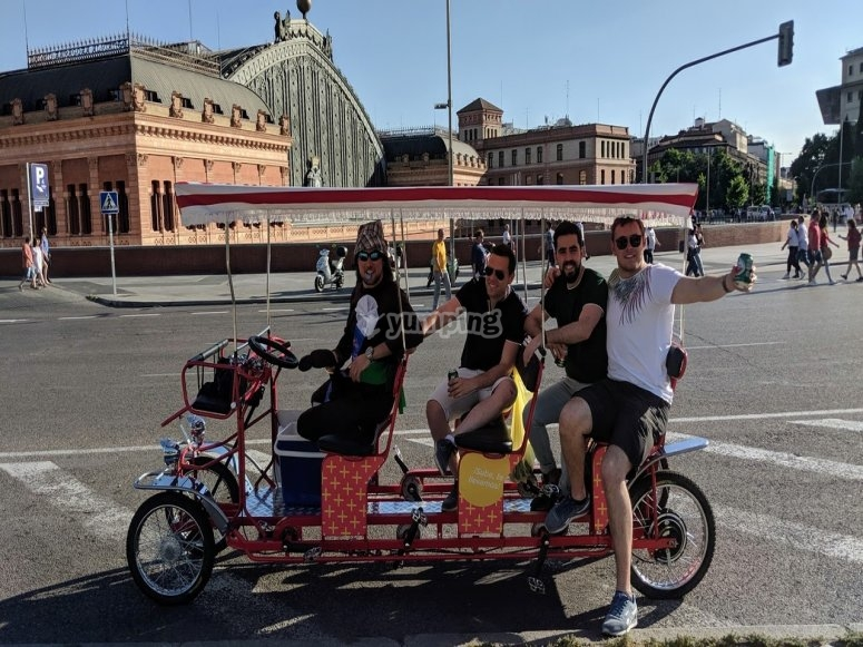 Tour the Spanish capital by beer bike