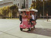 Beer bike con barra libre variada en Madrid