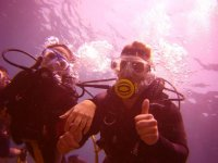 Primeros momentos bajo el agua