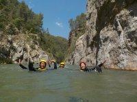 Flotando en el rio