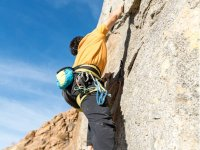 Climbing with climbing equipment