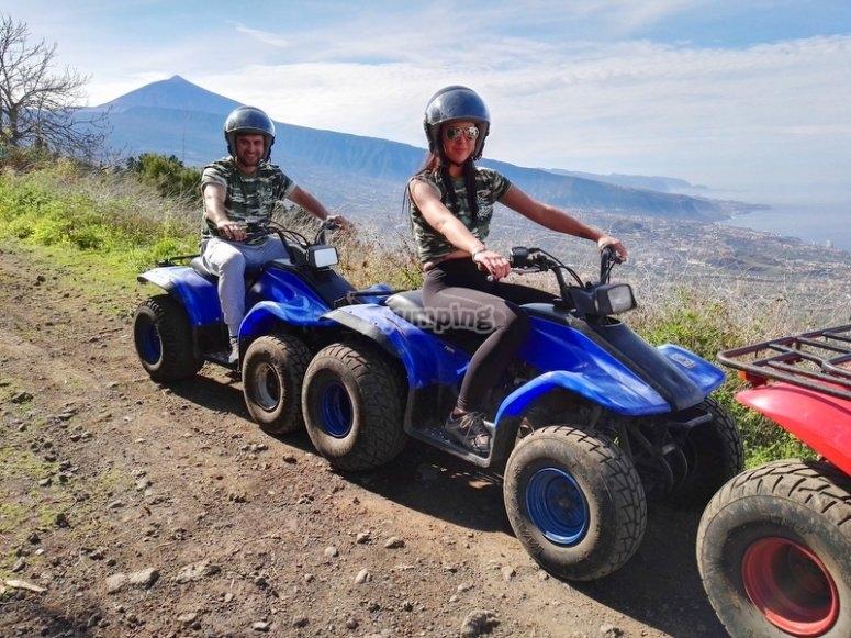 Paisaje de Tenerife en quad