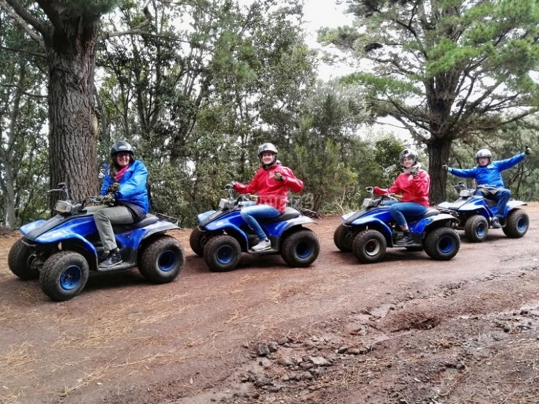 Por el bosque de Tenerife en quad