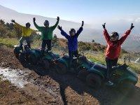 En la excursión en quad por Tenerife