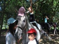 Toma de contacto con caballos para bebés en Orense
