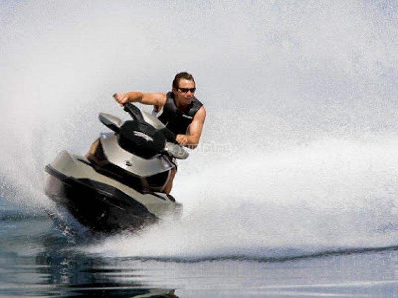 Enjoy a jet ski experience