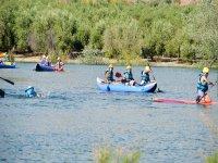 Dia de piraguas en el rio Genil