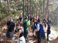 Hiking route with the friends of the camps