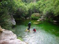 Descenso de barrancos en el Rio Verde