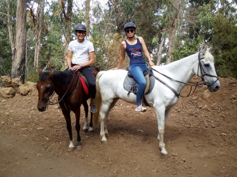 Session by horse in Tenerife
