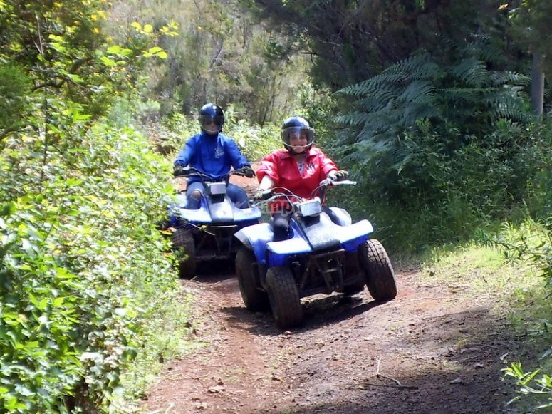 En ruta en quad