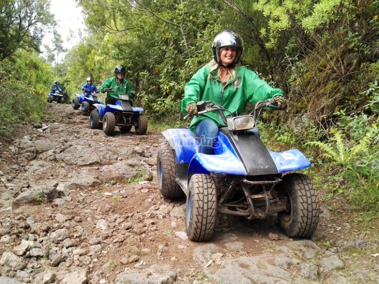 Through the trails of Tenerife on a quad