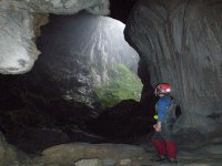 Entrance in the cave