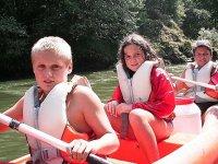 Children in canoe