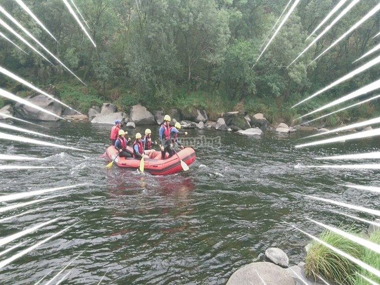 Descenso de rafting  Herbón