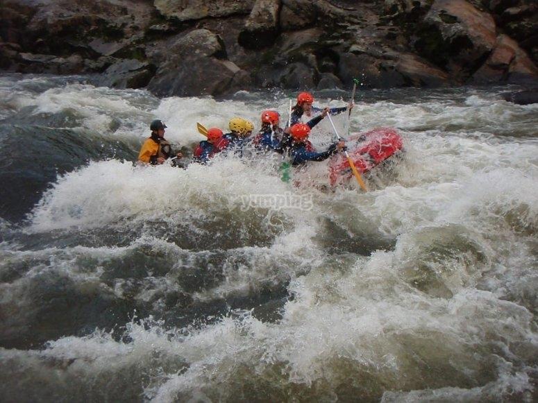 Rafting en río Ulla