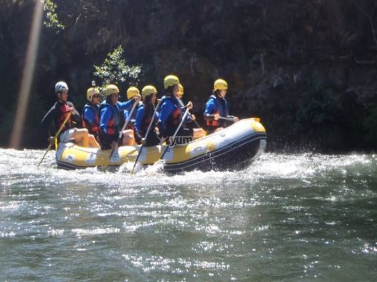 Participantes en la barca