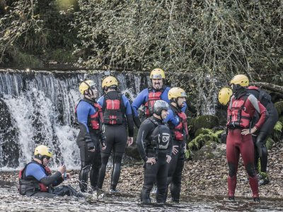 Canyoning in the river Verdugo medium level
