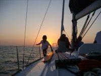 Bellos atardeceres en el mar