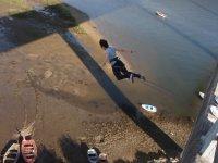Puenting en el Ponte de Sinde en Carcacia