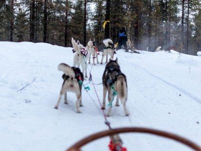 在Cerler乘坐雪山15分钟
