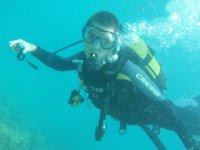 在阿瓜杜尔塞潜水洗礼与照片