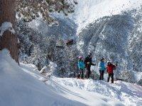 personas en la nieve
