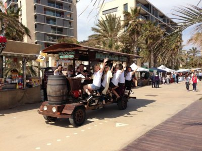Beer bike rent Barcelona 90 mins