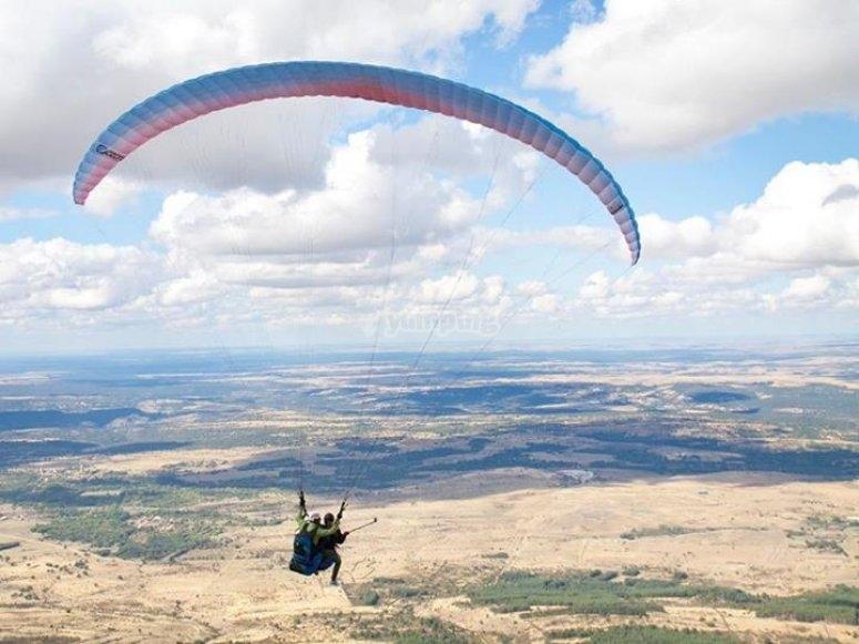 滑翔伞全景