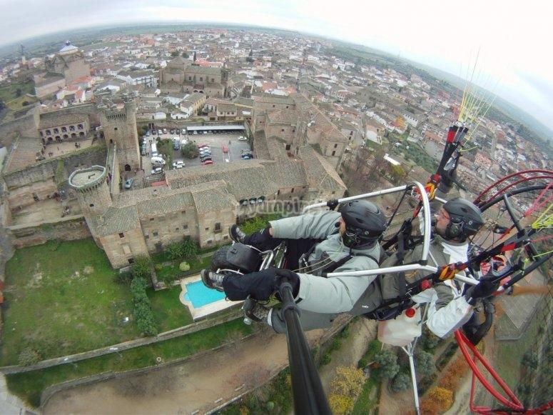 滑翔伞的视野