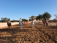 Starting from the equestrian center on the horses