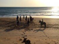 A caballo por la playa en Cadiz